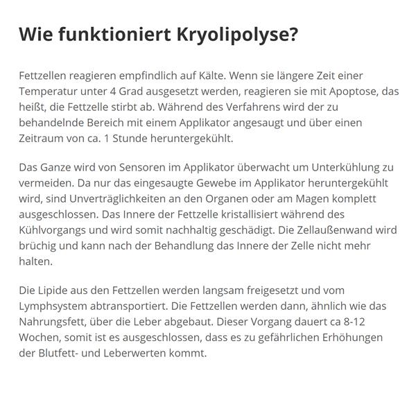Fettpolster einfrieren für  Korntal-Münchingen - Münchingen, Mauer und Kallenberg, Korntal